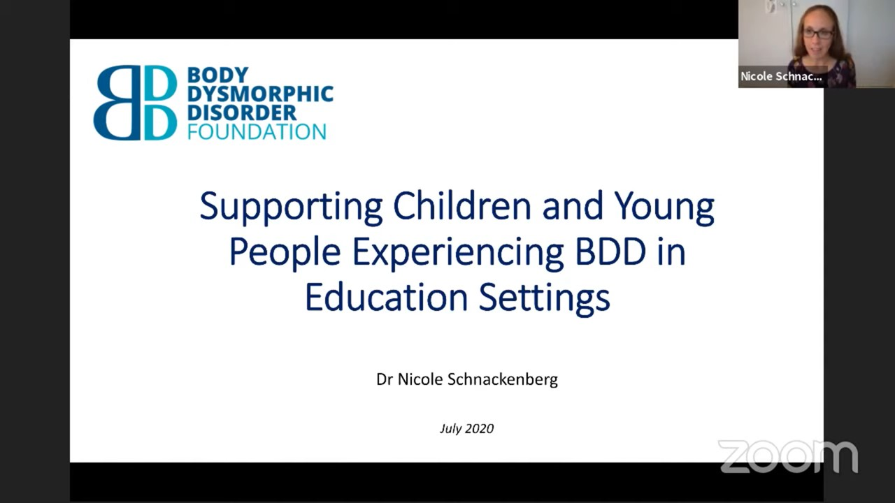 Recognising and Supporting BDD in Educational Settings