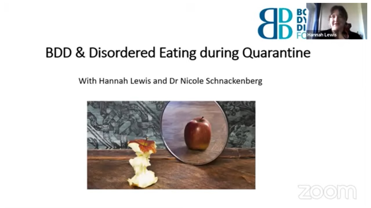 BDD and Disordered Eating in Quarantine