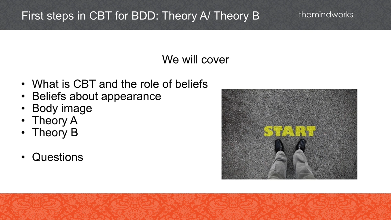First Steps in CBT for BDD: Theory A/B