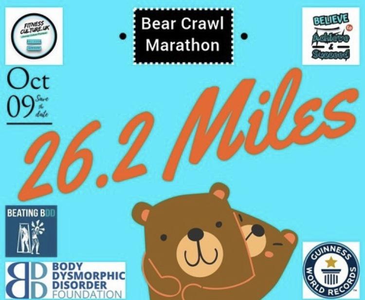 Greg's 'Bear Crawl Marathon' Fundraiser